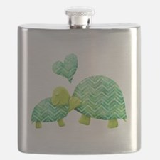 Turtle Hugs Flask
