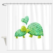 Turtle Hugs Shower Curtain