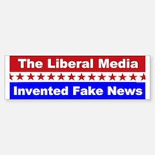 Liberal Media Invented Fake News Car Car Sticker
