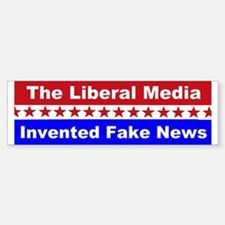 Liberal Media Invented Fake News Sticker (Bumper)