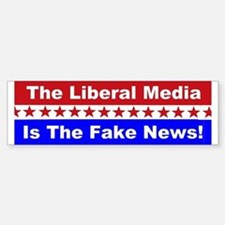 Liberal Media Fake News Bumper Stickers