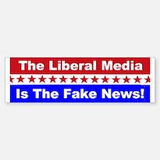 Liberal Media Fake News Car Car Sticker