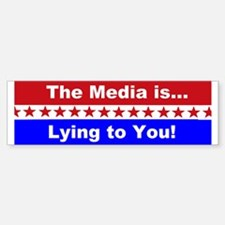 Liberal Media Lying Bumper Bumper Sticker