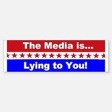 Liberal Media Lying Car Car Sticker