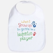 badminton_player_future Baby Bib