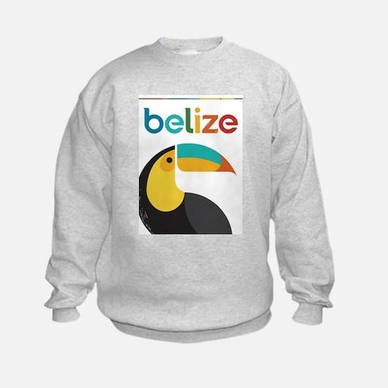 Belize Vintage Travel Poster with Toucan Sweatshir
