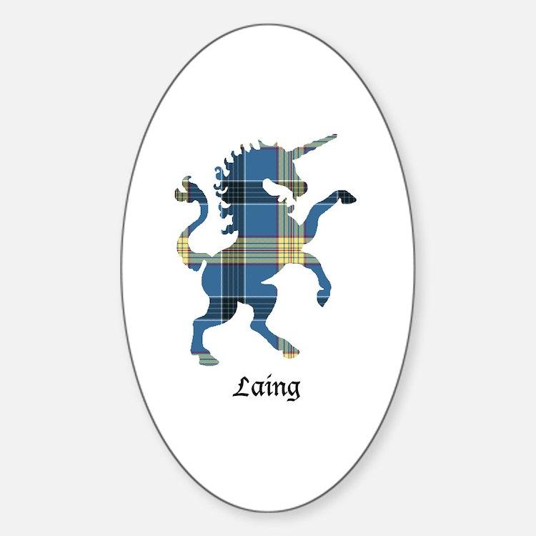 Unicorn - Laing Sticker (Oval)