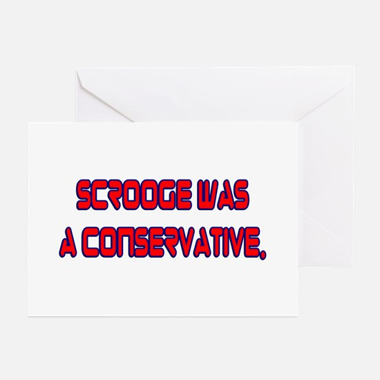 Scrooge Was a Conservative Note Cards (6) Greeting