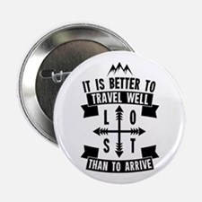 """Travel Well Quote 2.25"""" Button"""