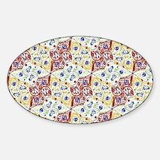 Cute Tessellation Sticker (Oval)