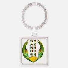 Cabo Verde Emblem Square Keychain