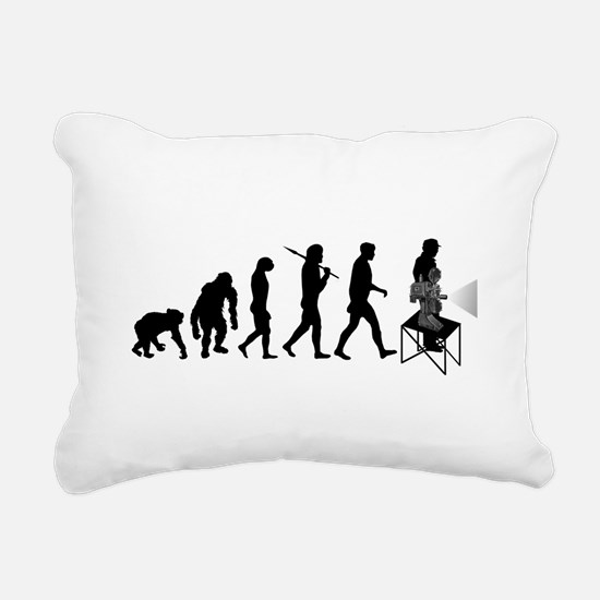 Film Projectionist Rectangular Canvas Pillow