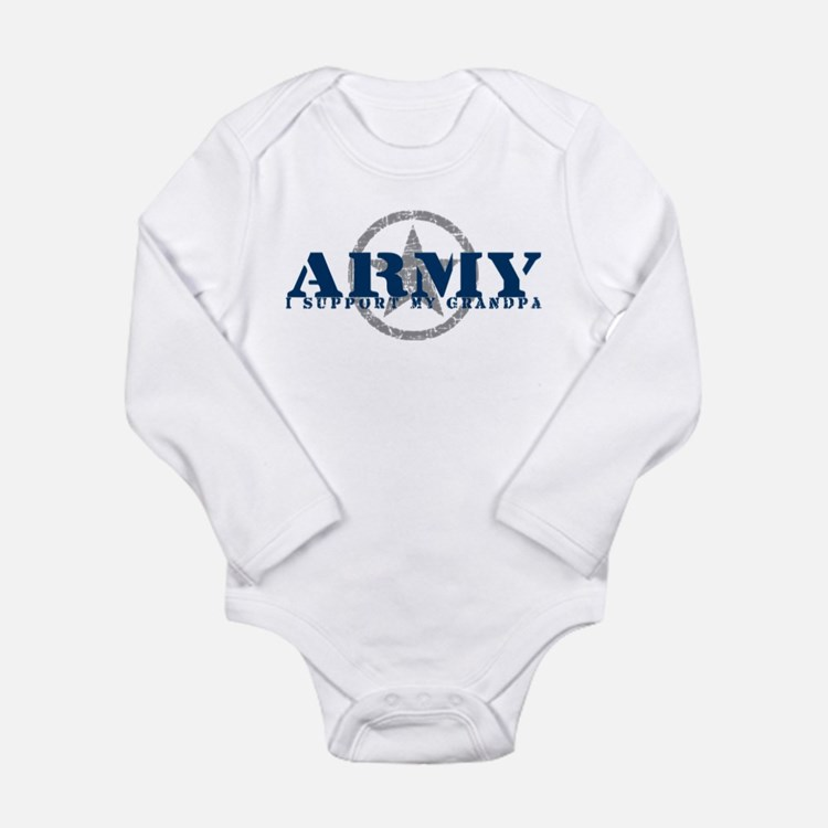 Army - I Support My Grandpa Body Suit