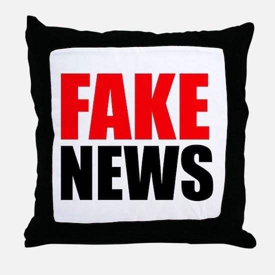 Fake News Throw Pillow