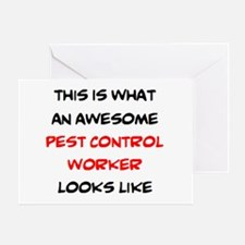 awesome pest control worker Greeting Card
