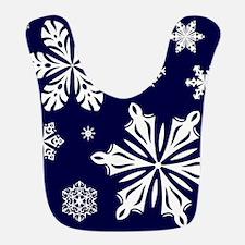 SNOWFLAKES Polyester Baby Bib