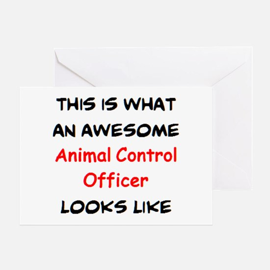 awesome animal control officer Greeting Card