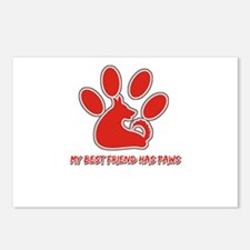 my best friend has paws Postcards (Package of 8)