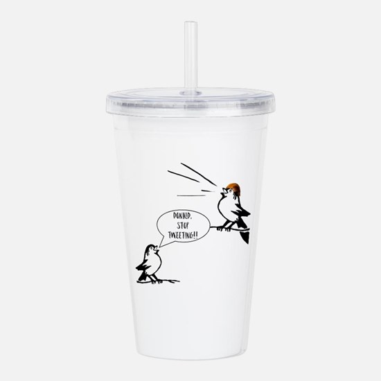Donald Trump Tweeting Acrylic Double-wall Tumbler