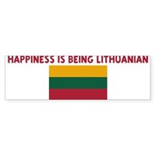 HAPPINESS IS BEING LITHUANIAN Bumper Bumper Stickers