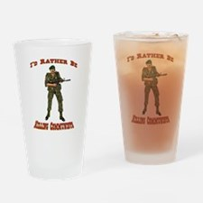 Rather Be Killing Commies Drinking Glass