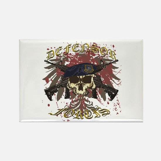 Security Forces Skull Rifles Rectangle Magnet