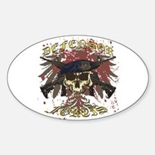 Security Forces Skull Rifles Sticker (Oval)
