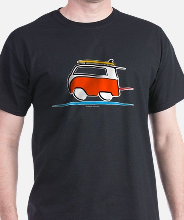 Red Shoerty Van Gone Surfing T-Shirt