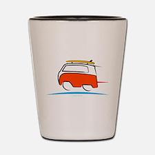 Red Shoerty Van Gone Surfing Shot Glass