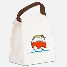 Red Shoerty Van Gone Surfing Canvas Lunch Bag