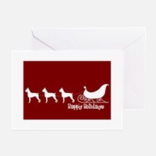 "Boxer ""Sleigh"" Greeting Cards"