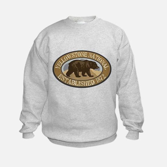 Yellowstone Brown Bear Badge Sweatshirt
