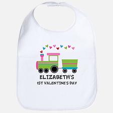 1st Valentines Day Personalized Baby Bib
