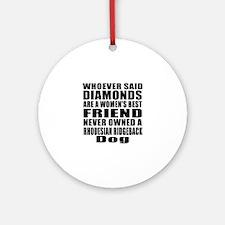 Awesome Rhodesian Ridgeback Dog Des Round Ornament