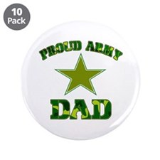 """Proud Army Dad 3.5"""" Button (10 pack)"""