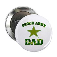 """Proud Army Dad 2.25"""" Button (100 pack)"""