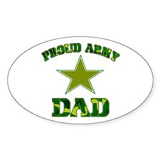 Proud Army Dad Oval Decal