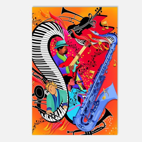 Funny Music Postcards (Package of 8)