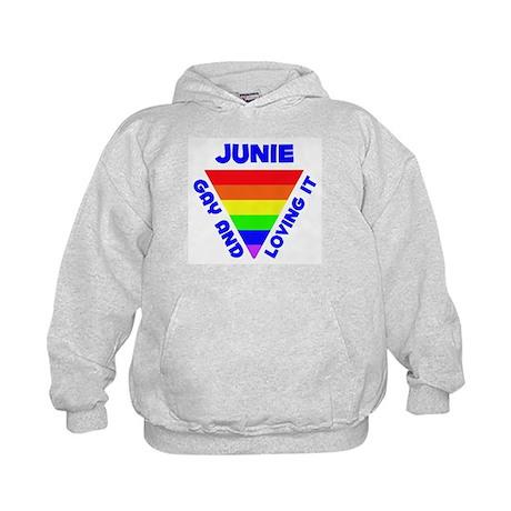 Junie Gay Pride (#005) Kids Hoodie