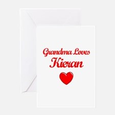 Grandma Loves Kieran Greeting Card