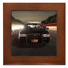 Florida Highway Patrol State Trooper Framed Tile