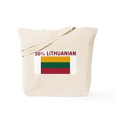 50 PERCENT LITHUANIAN Tote Bag