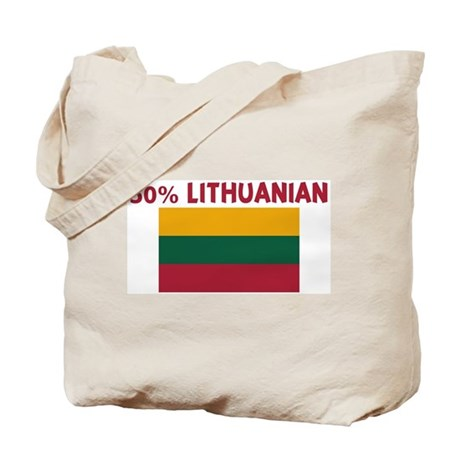50 PERCENT LITHUANIAN Tote Bag