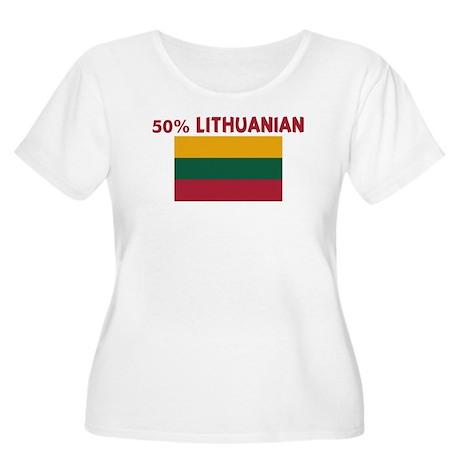 50 PERCENT LITHUANIAN Women's Plus Size Scoop Neck