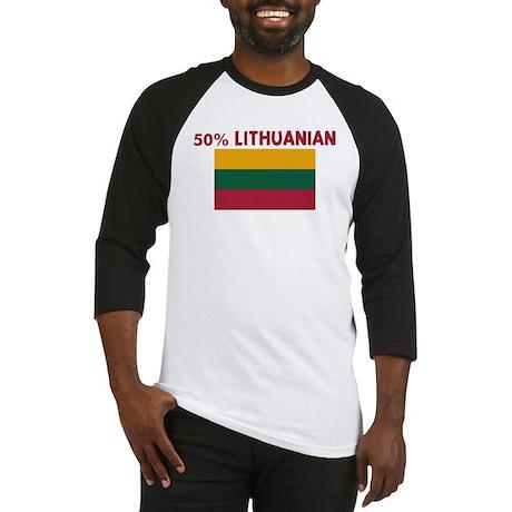 50 PERCENT LITHUANIAN Baseball Jersey