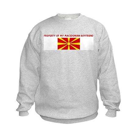 PROPERTY OF MY MACEDONIAN BOY Kids Sweatshirt