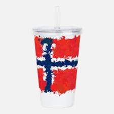 Flag of Norway (Ink Sp Acrylic Double-wall Tumbler