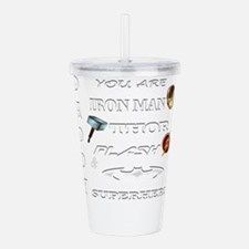 Daddy Superhero T Shi Acrylic Double-wall Tumbler
