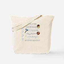 Daddy Superhero T Shirt Tote Bag