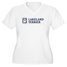 LAKELAND TERRIER Womes Plus-Size V-Neck T-Shirt